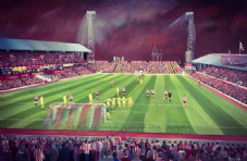 Sunderland - Roker Park From The Fullwell End - 20'' x 30'' Box Canvas
